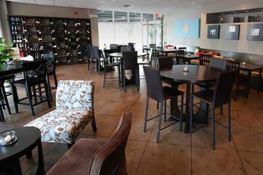 Urban Vines wine bistro, high top tables and chairs