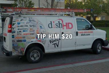 Dish truck