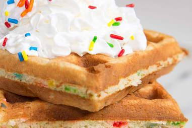Funfetti Waffles -- Thrillist Recipes