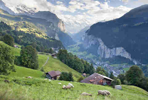 Lauterbrunnen, Switzerland, Alps, meadow, valley