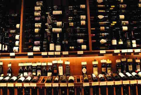 shelves of wine bottles at d'vine wine bar & shop