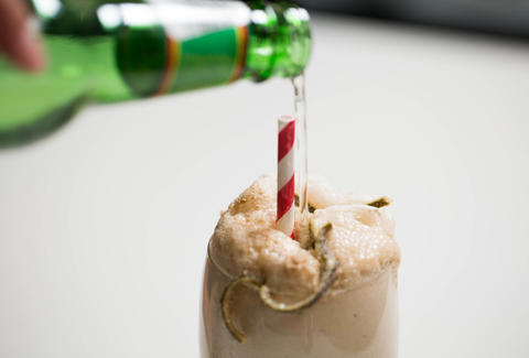 Dark and Stormy Float -- Thrillist Recipes