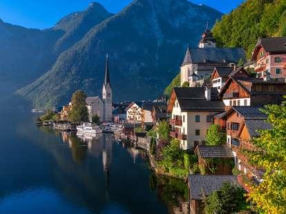 Hallstatt, village, Salzkammergut, Lake region,Austria