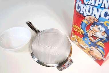 Strain cereal breakfast hack