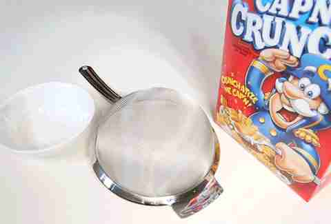 Strain cereal breakfast hack