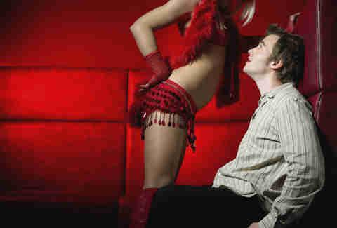 Lap dance redhead