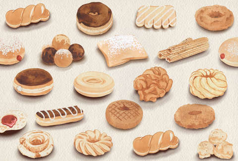 Illustrated Donut Guide Every Important Donut Thrillist
