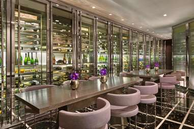 interior of St. Regis Bar & Wine Vault, tables and chairs