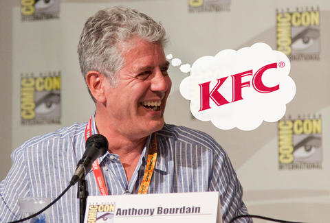 Image result for anthony bourdain kfc