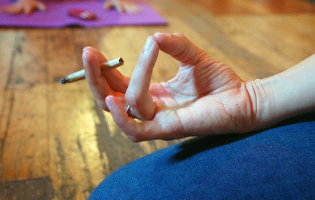 We Tried Doing Pot Yoga in SF. Here's What Happened.