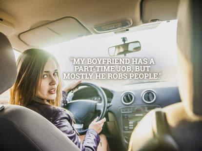 girl in Uber