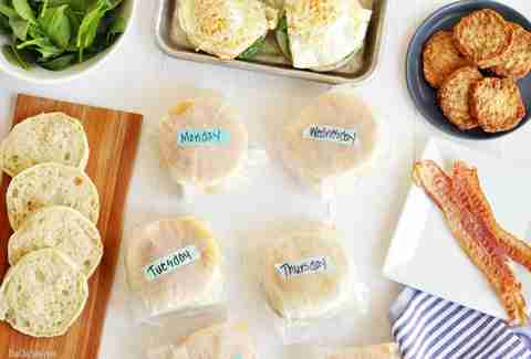 Breakfast sandwiches to go
