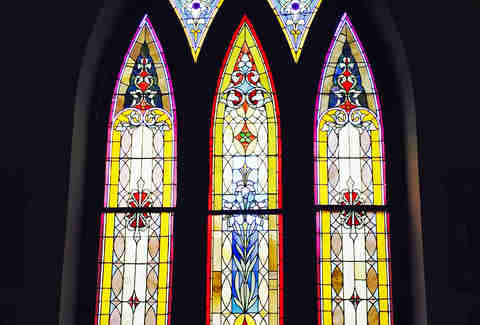 La Cava's stained glass windows
