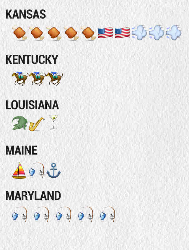 The Emojis For The 50 States Thrillist