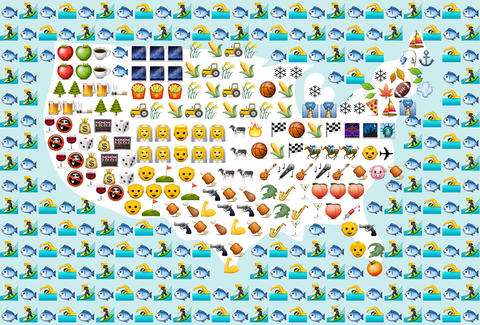 The Emojis for the 50 States - Thrillist