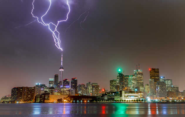 Famous World Landmarks Lit Up by Lightning