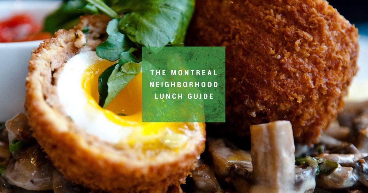 The Best Lunch Spot in 16 Montreal Neighbourhoods