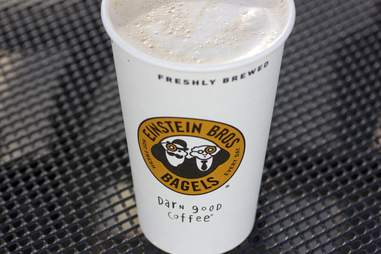 Einstein Bros Bagels pumpkin latte
