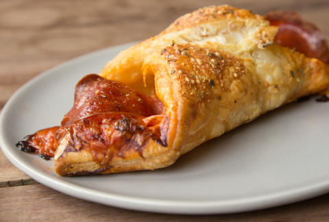 Croissant Pizza -- Thrillist Recipes