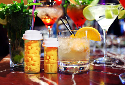 cocktails and pills