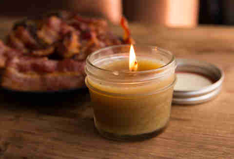 Making Candles Out of Bacon Is Ridiculously Easy