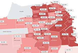 This Map Shows San Francisco's Increasingly Outrageous Rents