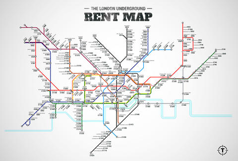 London Subway Map Russell Station.London Underground Rent Map Thrillist