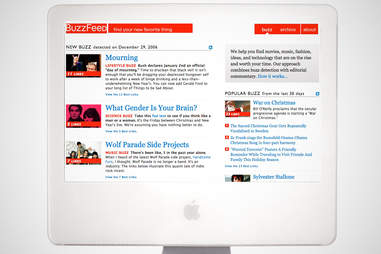 old buzzfeed home page, buzzfeed