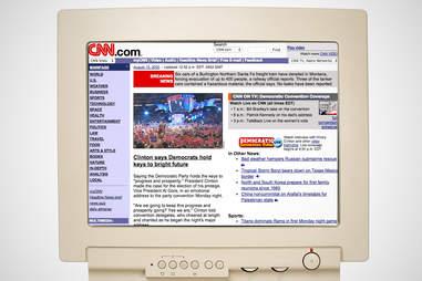 old cnn homepage, cnn