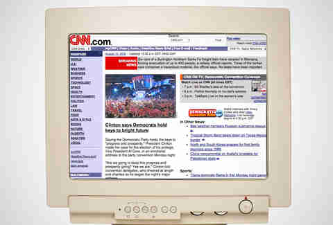 old cnn homepage, cnn