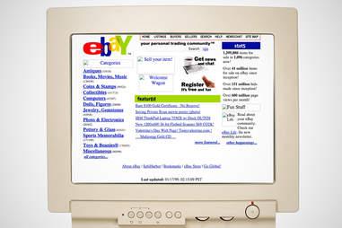 old ebay homepage, ebay
