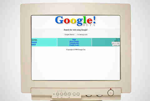 old google home page, google