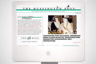 old the huffington post homepage, the huffington post