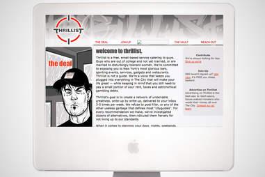 old thrillist homepage, thrillist