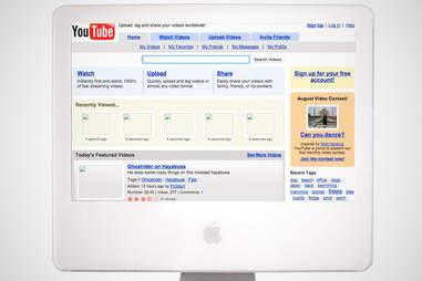 old youtube homepage, youtube