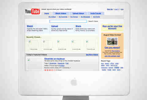 old youtube homepage, youtube