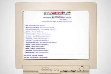 old yahoo homepage, yahoo