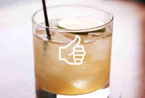 Thumbs up cocktail