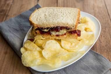 PB&J with potato chips