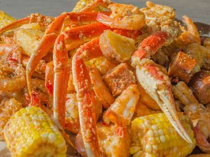 king crab boil and corn from lowcountry