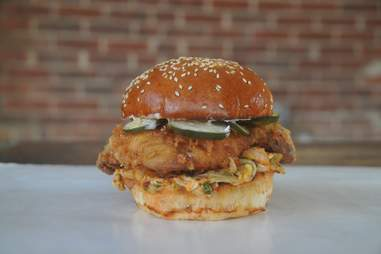 Fred's Korean fried chicken sandwich