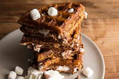 S'mores waffles -- Thrillist Recipes