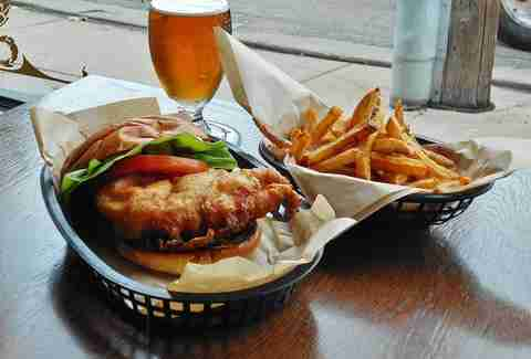Northbound Smokehouse & Brewpub fried chicken sandwich