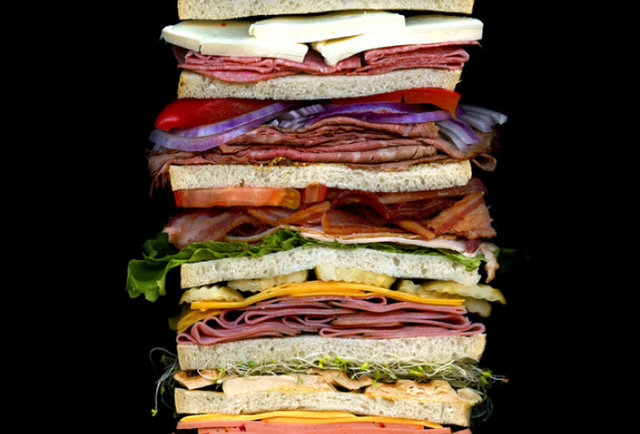 The beautiful insides of sandwiches