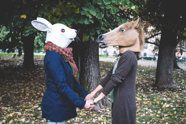 Rabbit and horse masks