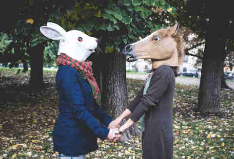 Rabbit and horse masks