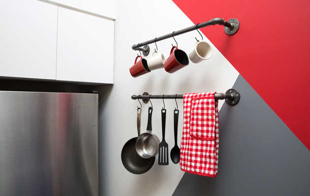 How to DIY a Badass Kitchen Rack for $25