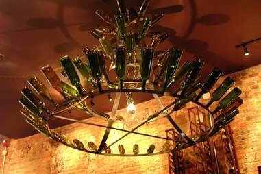 Interior lighting of Vintage wine bar