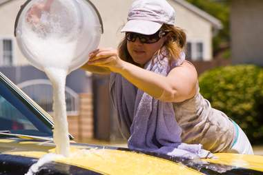 Do NOT pour that filthy water on your car!