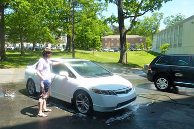 Don't wash your car in sunlight